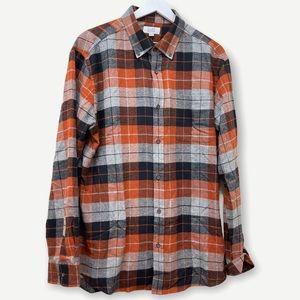 CROFT & BARROW men's button up flannel shirt